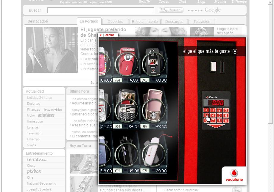 QuicoRubio.com > Vodafone Vending Machine 3