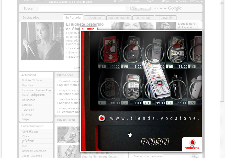 QuicoRubio.com > Vodafone Vending Machine 4