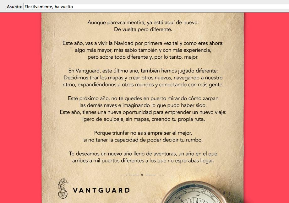 Vantguard eMail Xmas 2