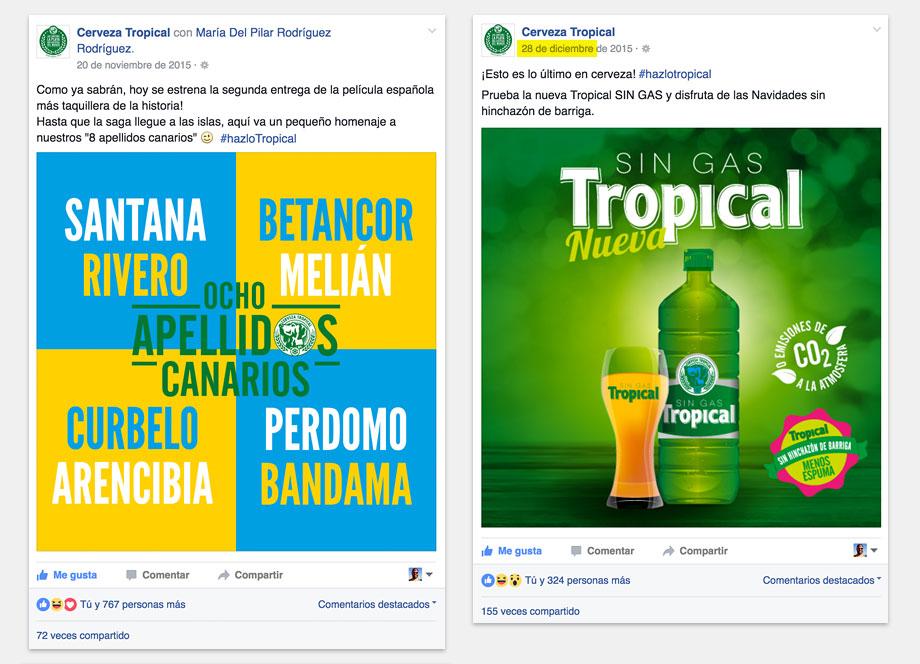 Cerveza Tropical RR.SS. 2