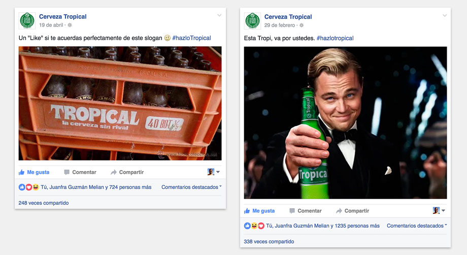 Cerveza Tropical RR.SS. 5